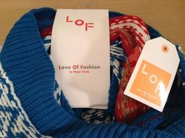 Mini Nordic infinity scarf hood warm cozy color choice blue orange green pink image 10