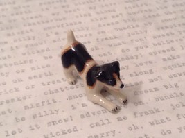 Miniature Ceramic Jack Russell Terrier Playing, Handpainted, Collectible image 7