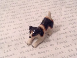 Miniature Ceramic Jack Russell Terrier Playing, Handpainted, Collectible image 3