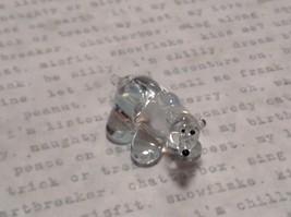 Miniature small hand blown glass icy clear polar bear made USA NIB image 2