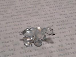 Miniature small hand blown glass icy clear polar bear made USA NIB image 5