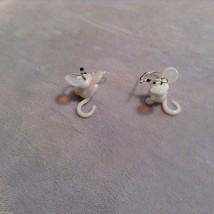 Miniature small hand blown glass made USA NIB white mice image 3