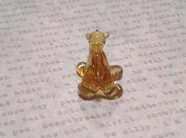 Miniature small hand blown glass yellow amber bear made USA NIB image 5