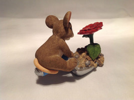 Mouse Sitting on Shovel Charming Tails Figurine Bloom Wherever You're Planted image 6