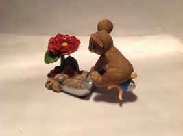 Mouse Sitting on Shovel Charming Tails Figurine Bloom Wherever You're Planted image 9