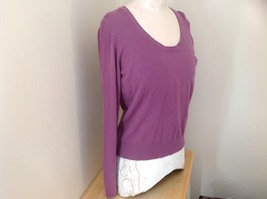 Mulberry Scallop Neckline Long Sleeve Shirt Made in Hong Kong GAP Size Large image 3