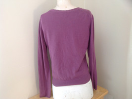Mulberry Scallop Neckline Long Sleeve Shirt Made in Hong Kong GAP Size Large image 6
