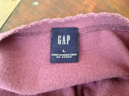 Mulberry Scallop Neckline Long Sleeve Shirt Made in Hong Kong GAP Size Large image 7