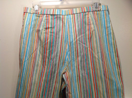 Multicolored Coldwater Creek Stretchy Waist Size 10 Striped Casual Pants image 6