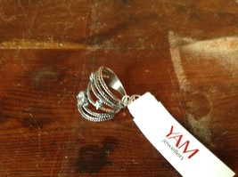 Multiband CZ Stackers Intricate Handcrafted 925 Sterling Silver Ring Size 7 OR 8 image 6