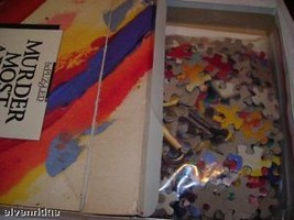 Murder Mystery Jigsaw puzzle and book image 2