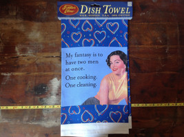My Fantasy is to have 2 man at once  Dish Towel Fiddlers Elbow Silk Printed image 2
