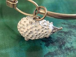 NEW bangle bracelet w Hedgehog Charm choice of color USA made image 8