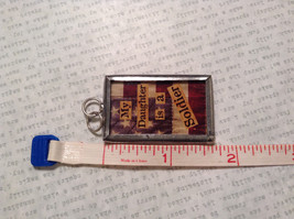 My Daughter is a  Soldier USA Charm Tie On Reversible Tag Metal Glass Tag image 3