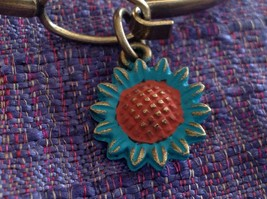NEW bangle bracelet w Sunflower Charm choice of color USA made image 8
