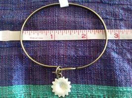 NEW bangle bracelet w Sunflower Charm choice of color USA made image 5
