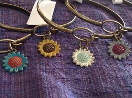 NEW bangle bracelet w Sunflower Charm choice of color USA made image 2