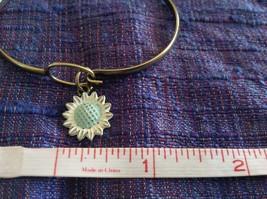 NEW bangle bracelet w Sunflower Charm choice of color USA made image 4