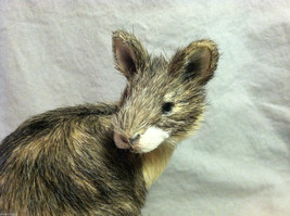 Native Australian brown Kangaroo Animal Figurine - recycled rabbit fur image 2
