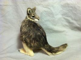 Native Australian brown Kangaroo Animal Figurine - recycled rabbit fur image 3