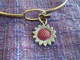 NEW bangle bracelet w Sunflower Charm choice of color USA made image 11