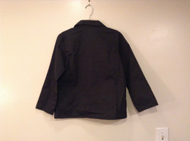 NEW with Tags Black Uniform Jacket Button Closure 4 Pockets on Front Size 16 image 2