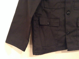 NEW with Tags Black Uniform Jacket Button Closure 4 Pockets on Front Size 16 image 5