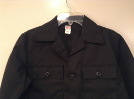 NEW with Tags Black Uniform Jacket Button Closure 4 Pockets on Front Size 16 image 3