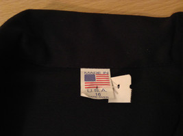 NEW with Tags Black Uniform Jacket Button Closure 4 Pockets on Front Size 16 image 8