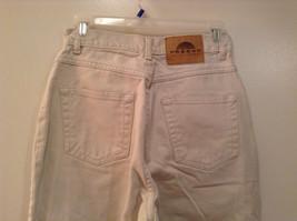 Natural White 100 Percent Cotton FRESNO Jeans Size 8 Average High Waist image 5