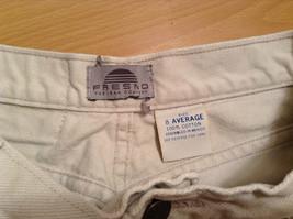 Natural White 100 Percent Cotton FRESNO Jeans Size 8 Average High Waist image 7