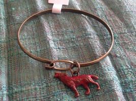 NEW bangle bracelet with Wolf Charm choice of color USA made  image 9