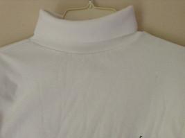 Nautica Medium White Long Sleeve Turtleneck Shirt Measurements Below image 3