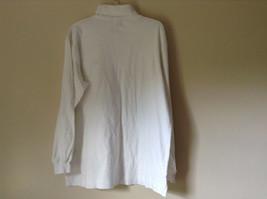 Nautica Medium White Long Sleeve Turtleneck Shirt Measurements Below image 7