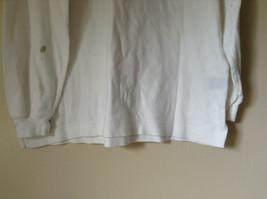 Nautica Medium White Long Sleeve Turtleneck Shirt Measurements Below image 6