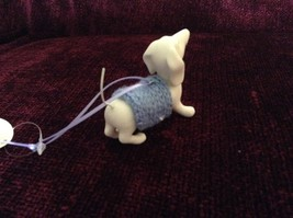 Porcelain Dachshund Figurine Cloth Shirt Wire Tail Different Colors Available image 2