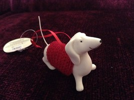 Porcelain Dachshund Figurine Cloth Shirt Wire Tail Different Colors Available image 5