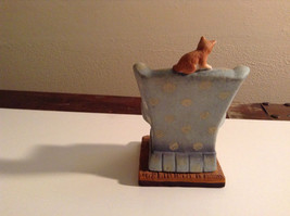Cute Cats Danbury Porcelain Figurine of Kittens Playing Sitting on Armchair image 2