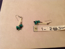 Porcupine Quill Malachite and Onyx  hand made dangle earrings image 3