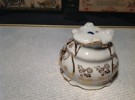 Porcelain White Tea Cup with Gold Tone Accents Intricate Rim and Handle image 8