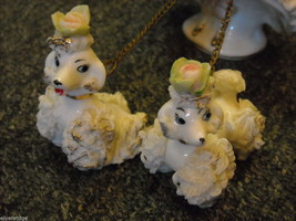 Porcelain Parisienne with parasol and 2 poodles image 4