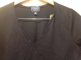 Navy Blue Chaps Classics V-Neck Open Women Shirt Size 2X Cotton image 4