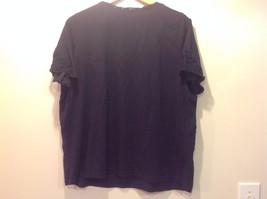 Navy Blue Chaps Classics V-Neck Open Women Shirt Size 2X Cotton image 5