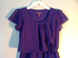 Pretty Purple Short Sleeved Ruffled Dress by Epic Threads Size Large image 2