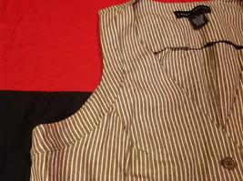 Pretty Larry Levine Ladies Brown Cream Colored Vest Size Large image 5