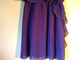 Pretty Purple Short Sleeved Ruffled Dress by Epic Threads Size Large image 3