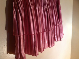 Pretty Pink Calf Length Pleated Skirt Shiny Material by Magic Scarf Co. image 4