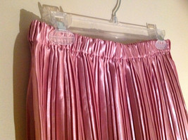 Pretty Pink Calf Length Pleated Skirt Shiny Material by Magic Scarf Co. image 3