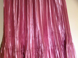 Pretty Pink Calf Length Pleated Skirt Shiny Material by Magic Scarf Co. image 5