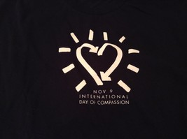 Navy Blue Short Sleeve Graphic T Shirt International Day of Compassion Size L image 3